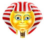 Emoticon de Emoji del faraón Foto de archivo