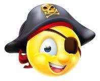 Emoticon de Emoji del pirata stock de ilustración
