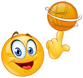 Emoticon de giro da bola Imagem de Stock Royalty Free