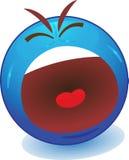 Emoticon de grito Imagen de archivo libre de regalías