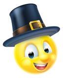 Emoticon de la acción de gracias Fotos de archivo libres de regalías
