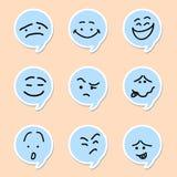 Emoticon de la burbuja del discurso ilustración del vector