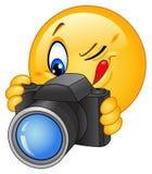 Emoticon de la cámara Foto de archivo libre de regalías