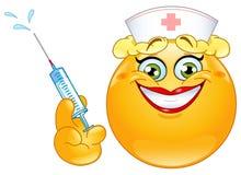 Emoticon de la enfermera Imagen de archivo libre de regalías
