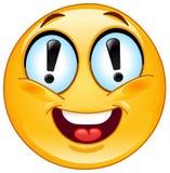 Emoticon de la exclamación Imagen de archivo libre de regalías