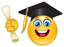 Emoticon de la graduación Foto de archivo libre de regalías