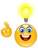 Emoticon de la idea Foto de archivo libre de regalías