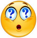 Emoticon de la pregunta Fotografía de archivo libre de regalías