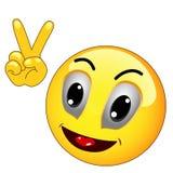 Emoticon de la victoria ilustración del vector