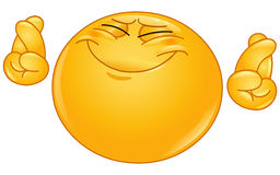 Emoticon de los dedos de la travesía Imagen de archivo