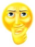 Emoticon de pensamiento de Emoji stock de ilustración