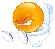 Emoticon de Pooping stock de ilustración