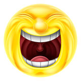 Emoticon de risa de Emoji Foto de archivo