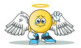 Emoticon after death america vector cartoon illustration. This is an original character Royalty Free Stock Photo