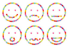 Emoticon  decorate by colorful beads Royalty Free Stock Photos