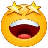 Emoticon degli occhi delle stelle Fotografia Stock Libera da Diritti