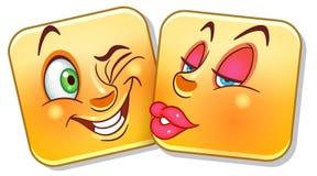 Emoticon del beso del amor ilustración del vector