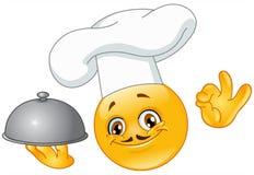 Emoticon del cocinero Foto de archivo libre de regalías