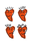 Emoticon del corazón Imagen de archivo libre de regalías
