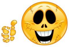 Emoticon del cranio Fotografie Stock Libere da Diritti