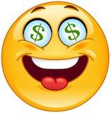 Emoticon del dólar Imagen de archivo libre de regalías