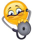 Emoticon del doctor Imagenes de archivo