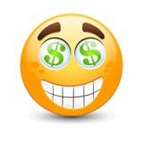 Emoticon del dollaro Immagine Stock