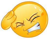 Emoticon del dolor de cabeza Imágenes de archivo libres de regalías