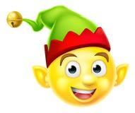 Emoticon del duende de la Navidad Imagenes de archivo