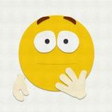 Emoticon del fieltro chocado Imagen de archivo