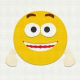 Emoticon del fieltro emocionado Foto de archivo