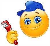 Emoticon del fontanero Imagen de archivo libre de regalías