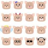 Emoticon del gato, sistema de la cara del gato stock de ilustración
