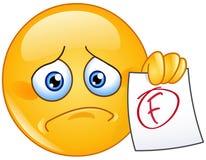 Emoticon del grado di F illustrazione di stock