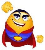 Emoticon del héroe estupendo ilustración del vector