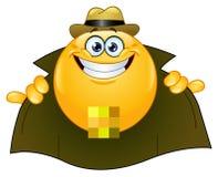 Emoticon del lampeggiatore illustrazione di stock