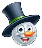 Emoticon del muñeco de nieve Foto de archivo libre de regalías