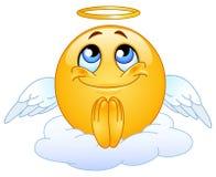 Emoticon del ángel Foto de archivo libre de regalías