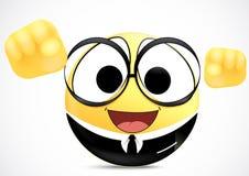 Emoticon del oficinista de la confianza Foto de archivo libre de regalías