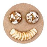 Emoticon del pane di dieta Fotografie Stock Libere da Diritti