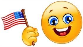 Emoticon del patriota Imágenes de archivo libres de regalías