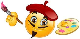 Emoticon del pittore Fotografie Stock