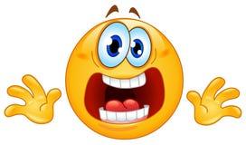 Emoticon del pánico Foto de archivo libre de regalías