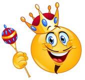 Emoticon del rey Fotografía de archivo libre de regalías