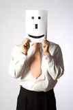 Emoticon del smiley del hombre de negocios fotos de archivo libres de regalías