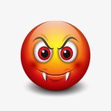Emoticon del vampiro aislado en el fondo blanco - smiley - vector el ejemplo libre illustration