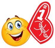 Emoticon della barretta della gomma piuma Fotografie Stock Libere da Diritti
