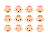 Emoticon della neonata royalty illustrazione gratis