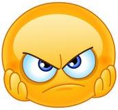Emoticon desapontado ilustração royalty free