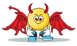 Emoticon devil mascot vector cartoon illustration. This is an original character Stock Photography
